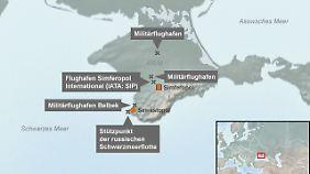 Auf der Halbinsel Krim befindet sich der Hauptstützpunkt der russischen Schwarzmeerflotte.