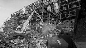 Das Kaliwerk in Bischofferode wird abgerissen.