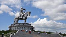 Futtergras satt in der Mongolei: Klima begünstigte Dschingis Khans Feldzüge