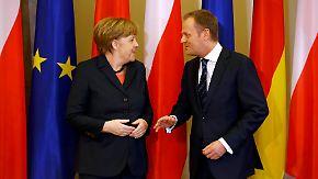 Lähmende Gas-Geschäfte?: Tusk fordert härteren Kurs Deutschlands gegen Russland