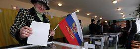 Noch bis 19 Uhr können die Bewohner der Krim abstimmen.