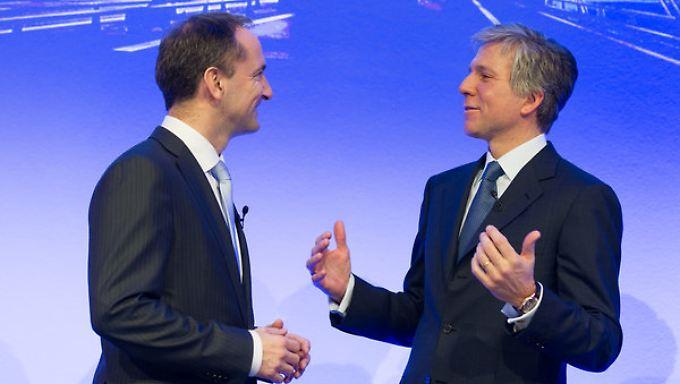 Noch führen sie gemeinsam: Doch ab Mai soll Snabe (l) den allein-amtierenden Chef McDermott beaufsichtigen.