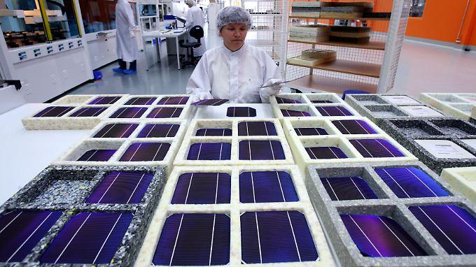 Solarzellen-Produktion im thüringischen Arnstadt