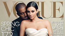 """Mit Brautkleid und Kanye West: Kim Kardashian ziert das """"Vogue""""-Cover"""