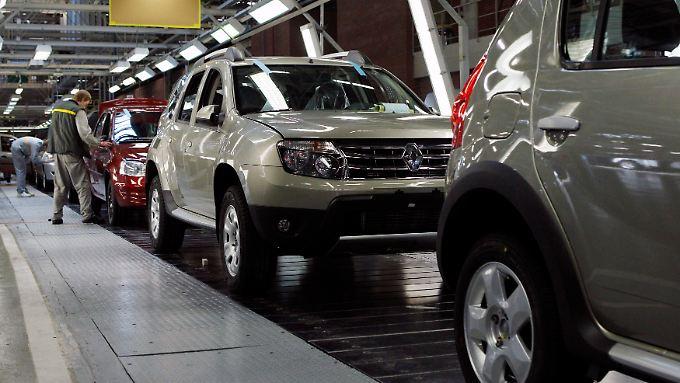 Produktion auf dem Absatzmarkt: Renault baut nahe Moskau. Dies macht etwas unabhängiger von Rubel-Schwankungen.
