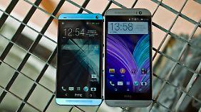 Das neue HTC One ist etwas größer als sein Vorgänger mit 4,7-Zoll-Display.