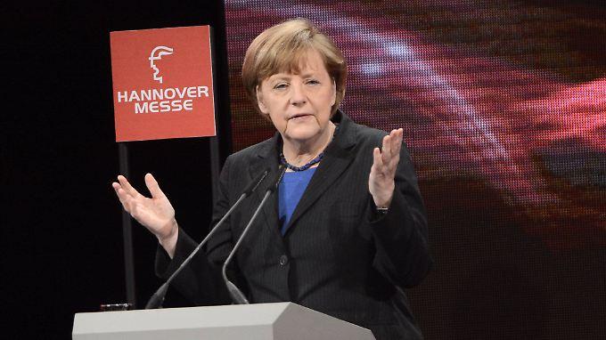 """Industrie 4.0 auf der Hannover Messe: Deutsche müssen sich laut Merkel """"sputen"""""""