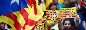 Viele Katalanen sehnen sich nach einer Unabhängigkeit von Spanien.