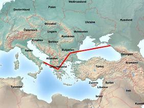South Stream soll vom russischen Anapa über Bulgarien und Griechenland bis nach Süditalien führen.