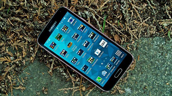 Das Samsung Galaxy S5 fühlt sich auch outdoor wohl.
