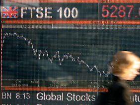 """Am Londoner FTSE 100, dem Index der Börse, mach Rohstoffunternehmen einen beträchtlichen Anteil aus - das britische Unterhaus nannte sie jüngst """"überbewertet""""."""