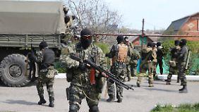 Aggressive Stimmung in Donezk: Prorussische Separatisten stellen eigene Bedingungen