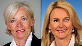 Elke Strathmann (l) verlässt das Unternehmen, Ariane Reinhart übernimmt.