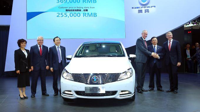 Auf der Auto China wurde der Denza erstmals dem Publikum präsentiert.