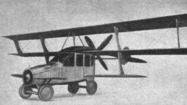 """Der Entwurf eines """"Autoplane"""" von Glenn Curtiss aus dem Jahr 1917 schaffte es nicht in die Serie."""