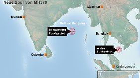 Das behauptete Fundgebiet liegt im Golf von Bengalen - 5000 Kilometer entfernt vom Suchgebiet der australischen Behörden.