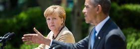 """""""Unumstrittene Führerin der Europäer"""": Obama verpflichtet Merkel zu mehr Führung"""