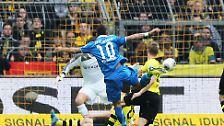 Die Hoffenheimer erwischten in Dortmund einen Blitzstart, nach fünf Minuten traf Roberto Firmino zur Führung.