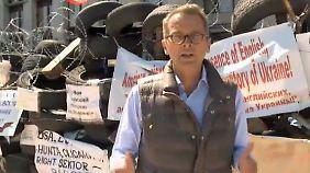 """n-tv Reporter Emmerich in Donezk: """"Putins Aufruf hat sich noch nicht herumgesprochen"""""""