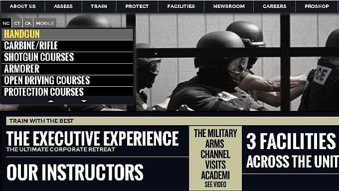 Krieg als Geschäftsmodell: Auf seiner Internetseite stellt Academi (früher Blackwater) seine Dienstleistungen vor.