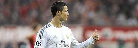 Daumen hoch für's Finale: Cristiano Ronaldo.