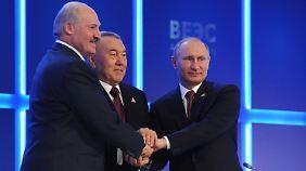 Russland, Weißrussland und Kasachstan sind die Eurasische Wirtschaftsunion - vorerst.