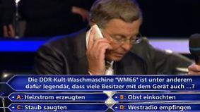 """Bosbach bei """"Wer wird Millionär?"""": Joker Merkel geht nicht ans Telefon"""