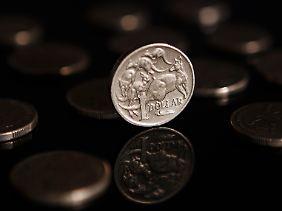 Ein australischer Dollar ist etwa 68 Euro-Cent wert.
