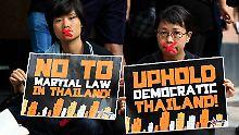 """""""Fangt mich, wenn ihr könnt"""": Thailands Militär verhaftet Protestführer"""