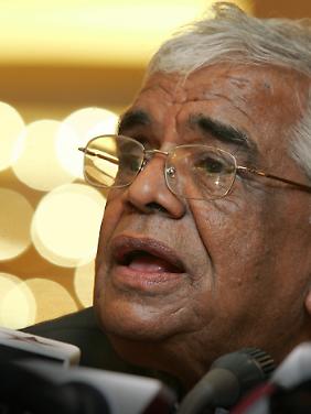 Babulal Gaur, Innenminister von Madhya Pradesh, hat die brutalen sexuellen Übergriffe gegen Frauen in Indien verharmlost. (Bild von 2005)