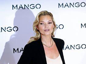 Das britische Modell Kate Moss wirbt für eine Mango-Kollektion.
