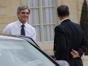 Dienstreise nach Frankreich: Siemens-Chef Joe Kaeser (l.) war erst Ende April zu Besuch im Elysee-Palast.