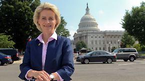 Bewährungsprobe in den USA: Von der Leyen trifft US-Kollegen
