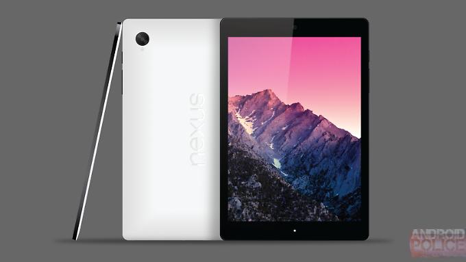 """So stellt sich """"Android Police"""" das Nexus 9 vor. Weil HTC es herstellt, könnte es aber Stereolautsprecher auf der Vorderseite haben."""