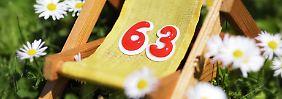 Abschlagsfreie Rente: Wer darf mit 63 aufhören?