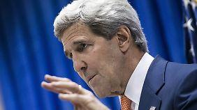 Kerry drängt in Irak-Krise zur Eile: USA drohen mit Luftschlägen gegen Isis