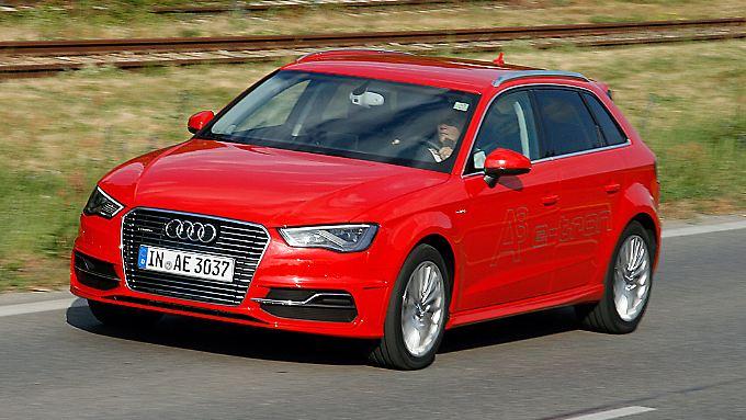 Die elektrische Reichweite des Audi A3 e-tron soll bis zu 50 Kilometer betragen.