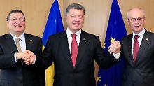 Ukraine offziell mit EU verbunden: EU unterzeichnet Assoziierungsabkommen