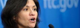 """So nicht: Edith Ramirez, Chefin der einflussreichen US-Behörde Federal Trade Commission (FTC), geht gegen vermeintliche """"Bogus Charges"""" vor."""