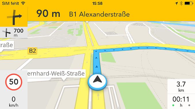 GPS Navigation & Maps ist eine günstige Offline-Navigation für iOS und Android.