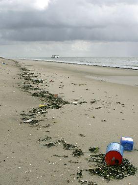 Plastikmüll gibt es auch am Strand der Vogelschutzinsel Memmert.