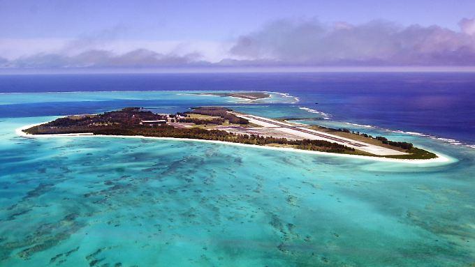 Das Atoll bot im Kalten Krieg über 3000 Soldaten eine Unterkunft.  Heute leben auf Midway rund 30 Menschen.