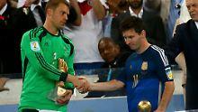 Bester Torwart und Bester Spieler: Neuer und Messi.