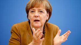 Kanzlerin Merkel ist für Sanktionen gegen Russland.