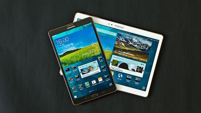 Das Galaxy Tab 8.4 ist ideal fürs Hochformat, das Galaxy Tab S 10.4 ist ein Spezialist fürs Querformat.