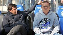 """""""Als Absteiger ist es normal, dass man erst einmal zu den Favoriten gezählt wird"""": Bielefelds Trainer Norbert Meier."""