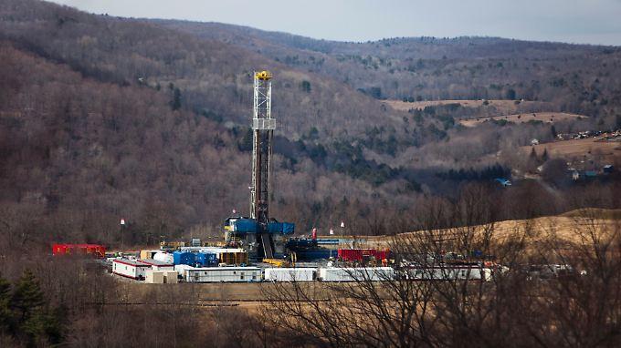 Fracking in Pennsylvania: Erdgas befindet sich nicht in Blasen, sondern in Gesteinsporen in Tiefen von bis zu 5.000 Metern oder mehr.