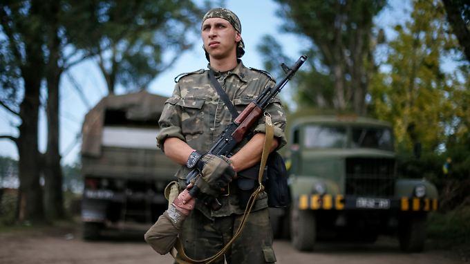 Der alltägliche Schrecken mitten in Europa: In der Ukraine kämpfen Regierungstruppen gegen Separatisten.