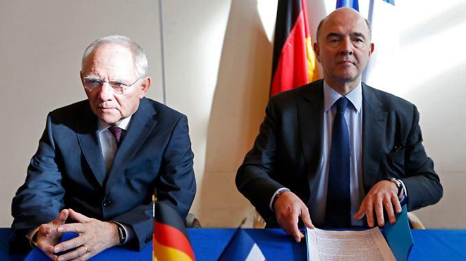 Wolfgang Schäuble und Pierre Moscovici.
