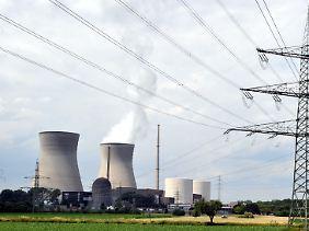 Das Kernkraftwerk in Gundremmingen: Die beiden Reaktoren bilden das leistungsstärkste Kernkraftwerk in Deutschland.